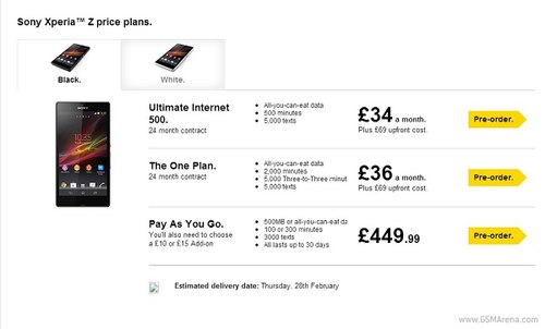 Sony Xperia Z bắt đầu được bán ra